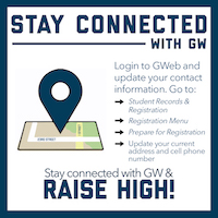 Stay Connected with GW - Update Your Cell Phone and Current Address in GWeb