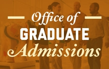 Graphical link to the Office of Graduate Admissions website