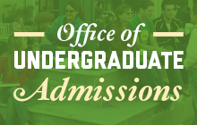 Graphical link to the Office of Undergraduate Admissions website