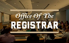 Promo link to the Office of the Registrar
